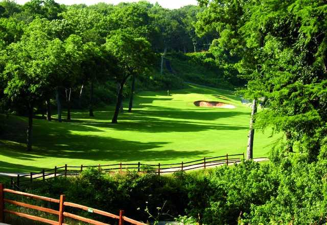 A view of green #3 at North Course from Onion Creek Club