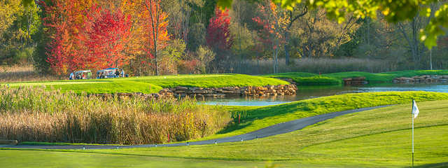 A fall day view from Shenendoah Golf Club at Turning Stone