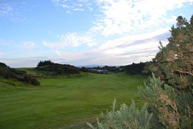 View of a fairway and green at Scrabo Golf Club