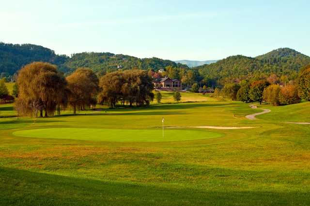 View of a green from Mountain Harbour Golf Club