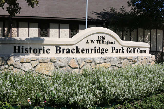 A view from the entrance at Brackenridge Park Golf Course