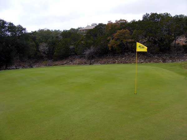 A view of a green at Lakeside Golf Club