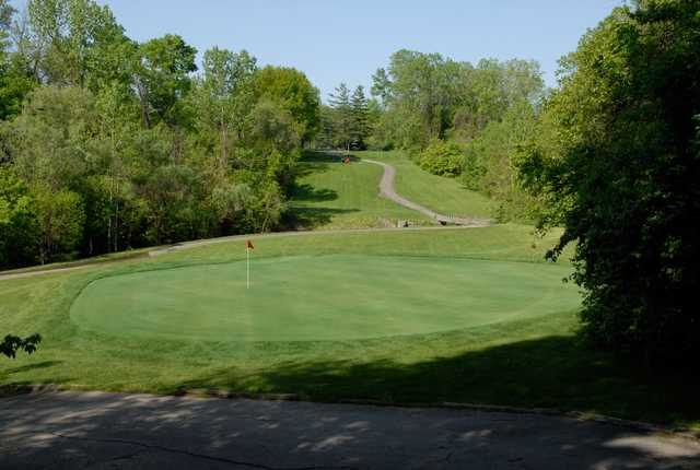 View of a green at Champions Golf Course