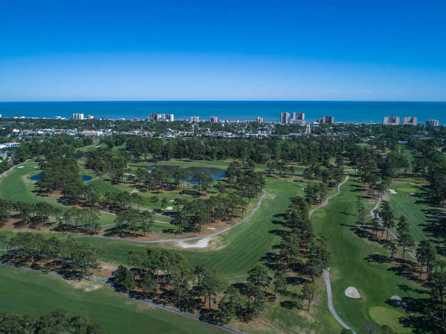 Aerial view of Beachwood Golf Club