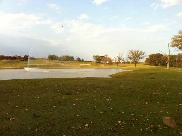 A view of the 8th hole at The Timber Links at Denton
