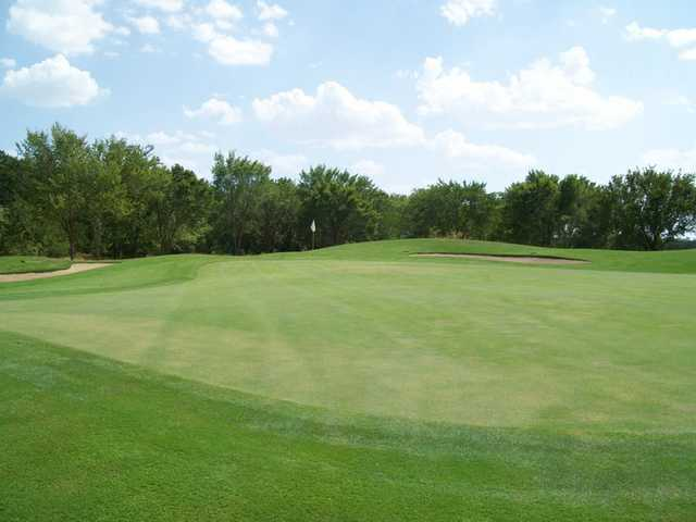 A view of green #7 at Waterchase Golf Course