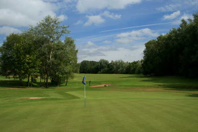 A view from a green at Ellesmere Golf Club