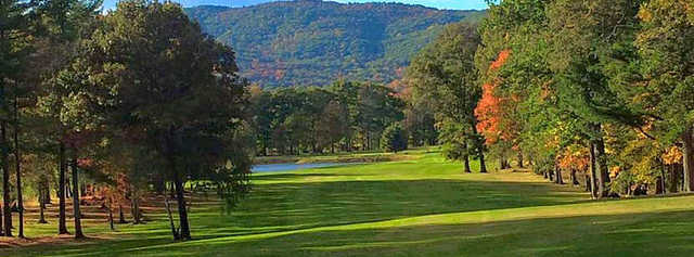 View of the 6th green at New Paltz Golf Course