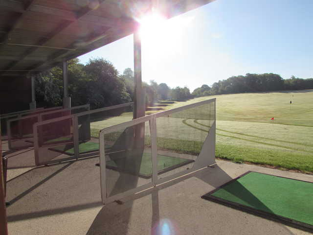 A view from the driving range at Cowglen Golf Club