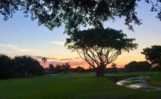 Sunset view from Atlantic National Golf Club