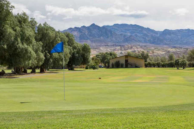 A view of a green from Furnace Creek Golf Course at Death Valley.