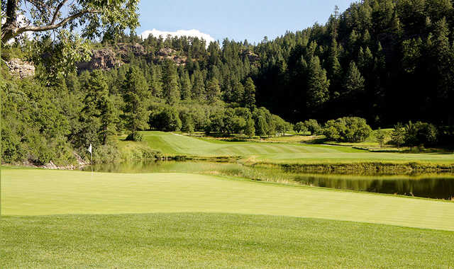 A view of hole #17 at Valley Course from Glacier Club.