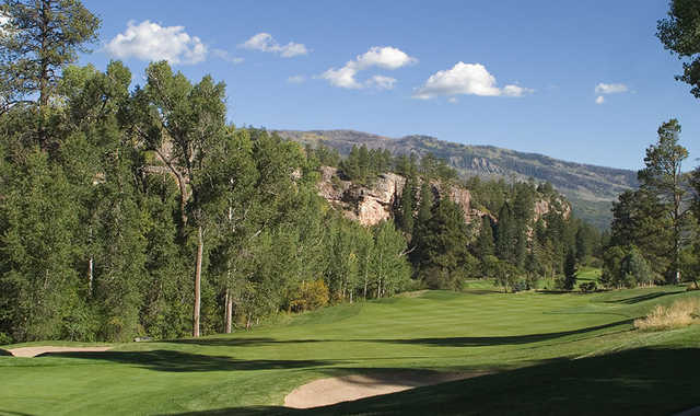 A view of the 2nd fairway at Valley Course from Glacier Club.