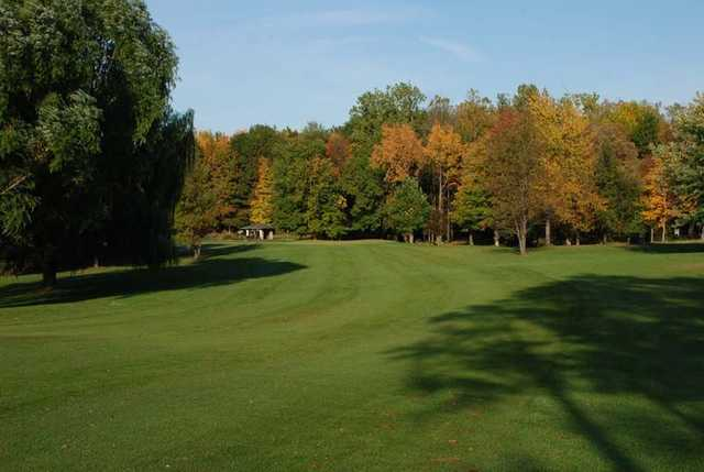 A view of a fairway at Heron Creek Golf Club.