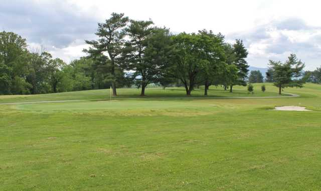 A view of a green at Nolichucky View Golf Club (Powellauction).