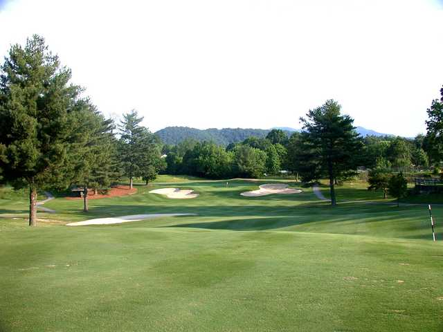 A view of the 8th hole at Johnson City Country Club.