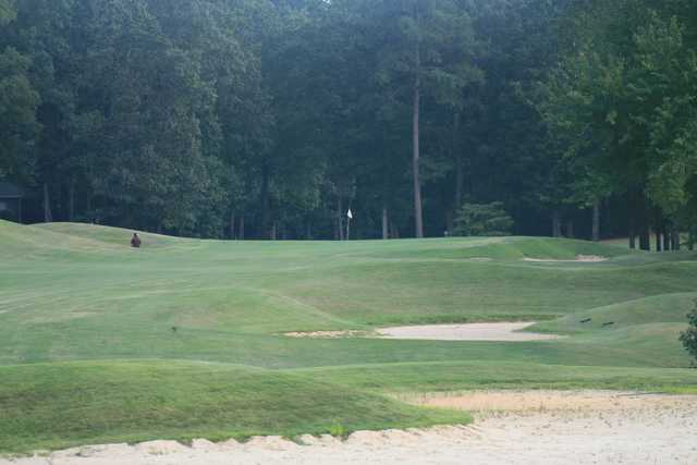 A view of the 18th hole at Shiloh Falls Golf Club.