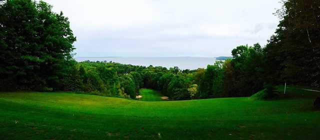 A view from a tee at Alpine Resort & Golf.