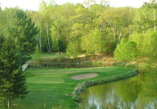 A view of hole #15 at Ross' Teal Wing Golf Club.