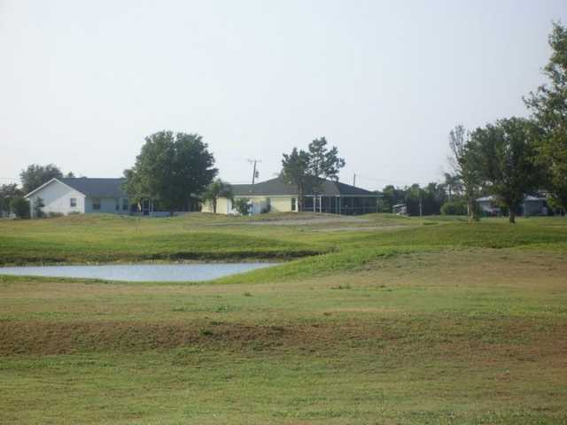 A view of the clubhouse at Sunnybreeze Golf Course.