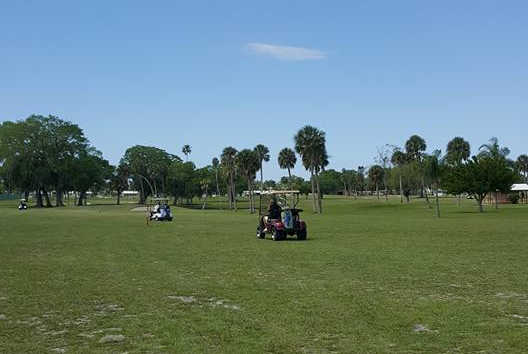 A view of a fairway at Greens of Manatee Golf Course (Mimi Clark).