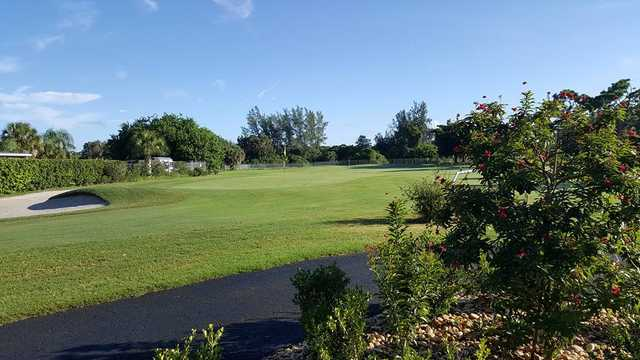 A view of a green at Lemon Bay Golf Club (Glen N Dana Storm).