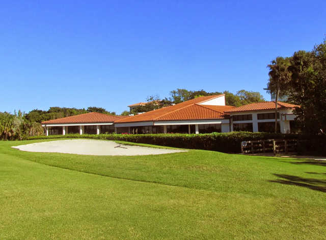 A view of the clubhouse at Island Dunes Country Club.
