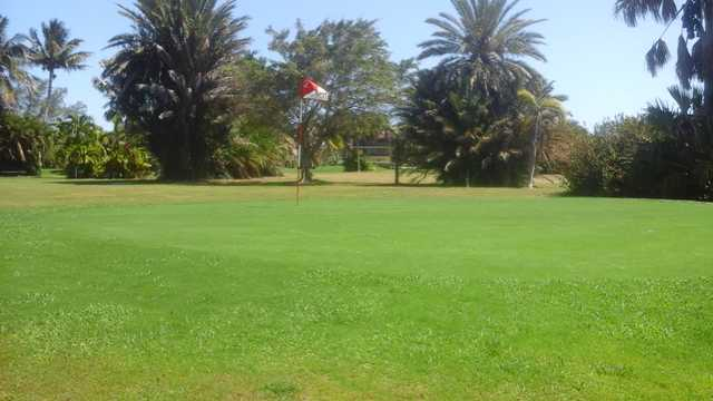 A view of green #2 at Key Colony Beach Golf & Tennis.