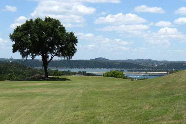 A view of fairway #9 at Lake Travis CC