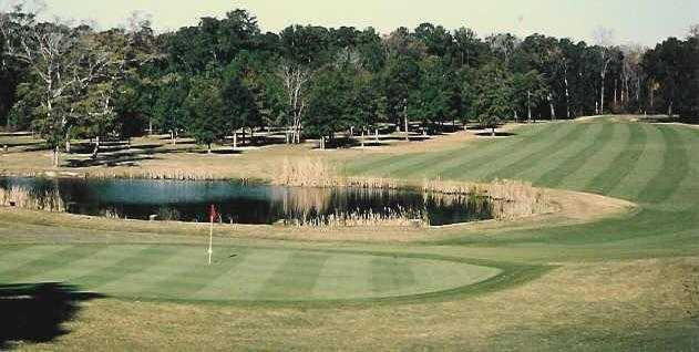 A view of hole #9 at Indian Springs Golf Club.