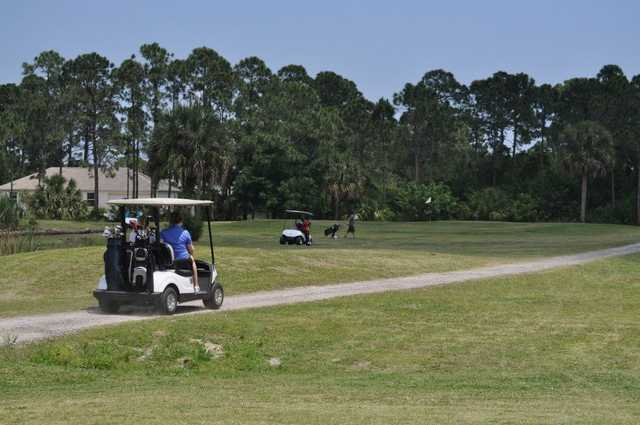 A view of a hole at Jo Daddy's Golf Course.
