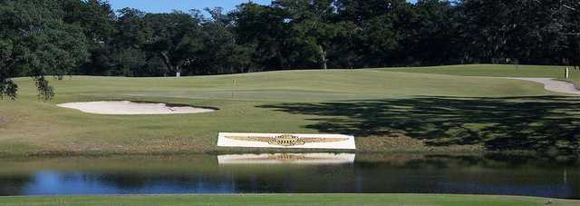 A view of a green at A. C. Read Golf Course.