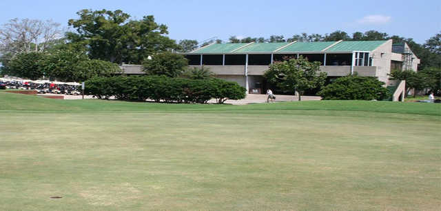 A view of the clubhouse at A. C. Read Golf Course.