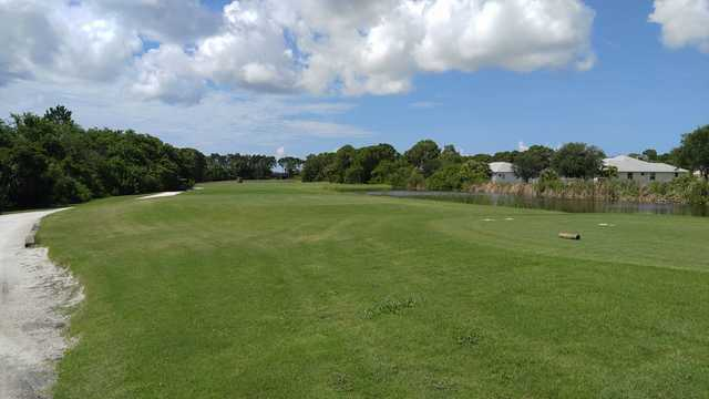 A view of a tee at Rotonda Golf & Country Club Long Marsh (James Ouellette).