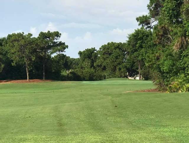 A view of a green at Rotonda Golf & Country Club Long Marsh (Jeremy Koerber).