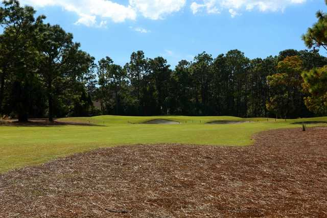 A view of a green at Pinemoor West Golf Club.