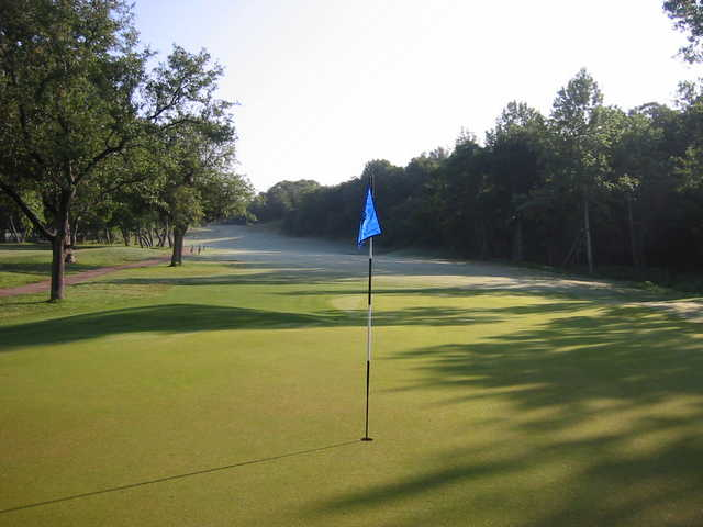 A view of the 13th green at Crystal Falls Golf Course