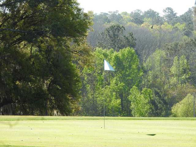A view of the 18th hole at Hilaman Golf Course.