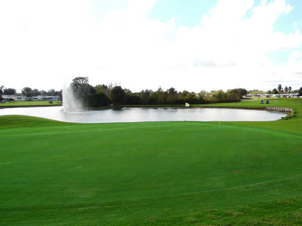 A view of a green at Four Lakes Golf Club.