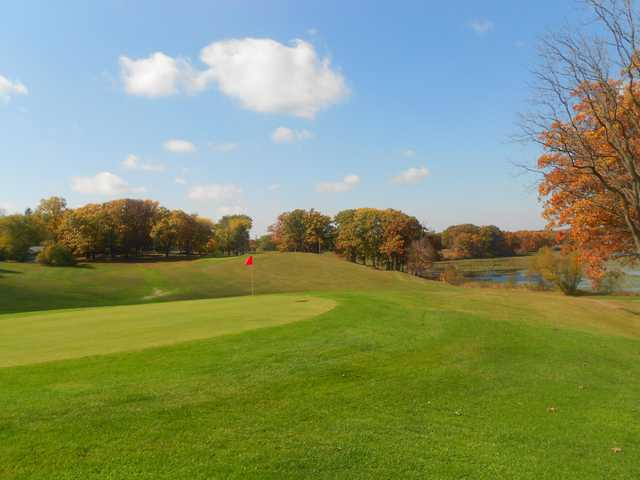 View of a green at Mink Lake Golf Course