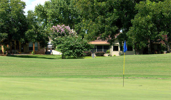 A view of green at Hidden Falls Golf Club