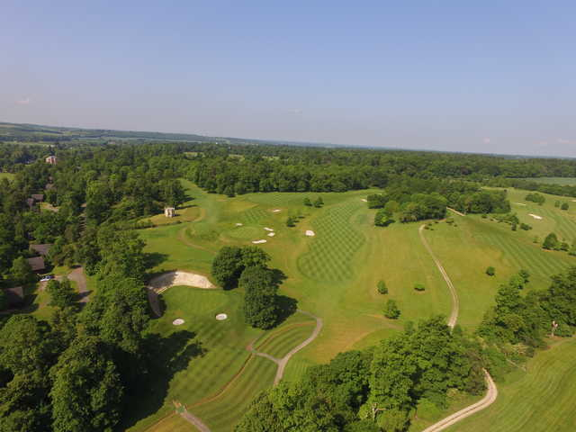 Aerial view from Harleyford Golf Club