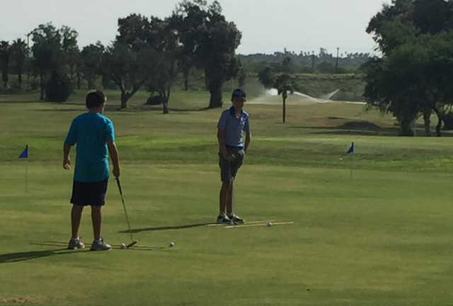 A view of the practice putting green at Casa Blanca Golf Course.