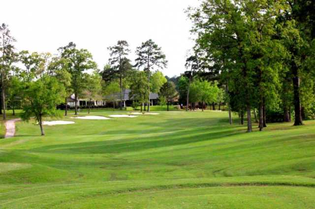 A view of a fairway at Crown Colony Country Club.