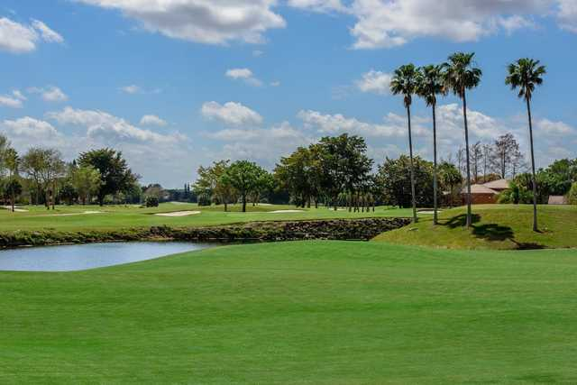A view from a green at Country Club of Coral Springs