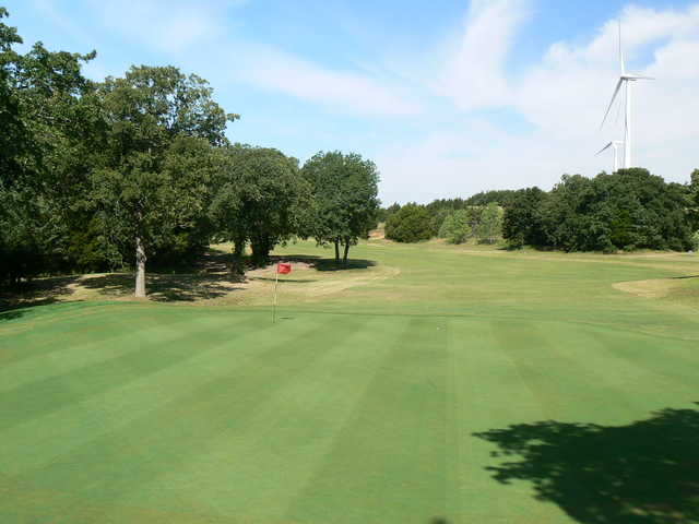 A view of hole #16 at Turtle Hill Golf Course