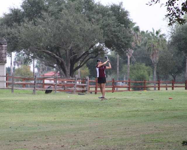 A view of a tee at Shary Municipal Golf Course.