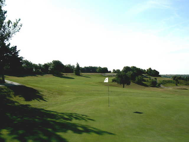 A view of the 10th green at Turtle Hill Golf Course