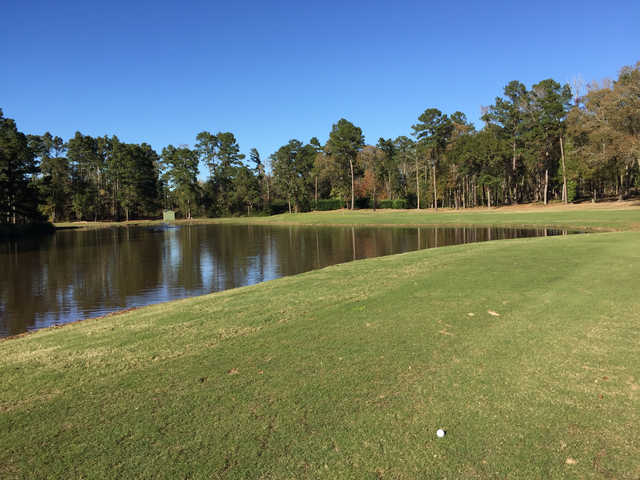A view of a hole at Piney Woods Country Club.