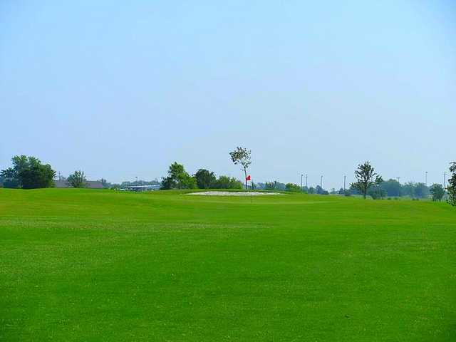 A view of the 5th green at Pecan Lakes Golf Course